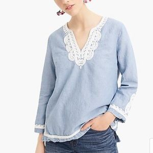J. Crew Tops - 🆕 J. Crew Point Sur tunic with embroidered trim